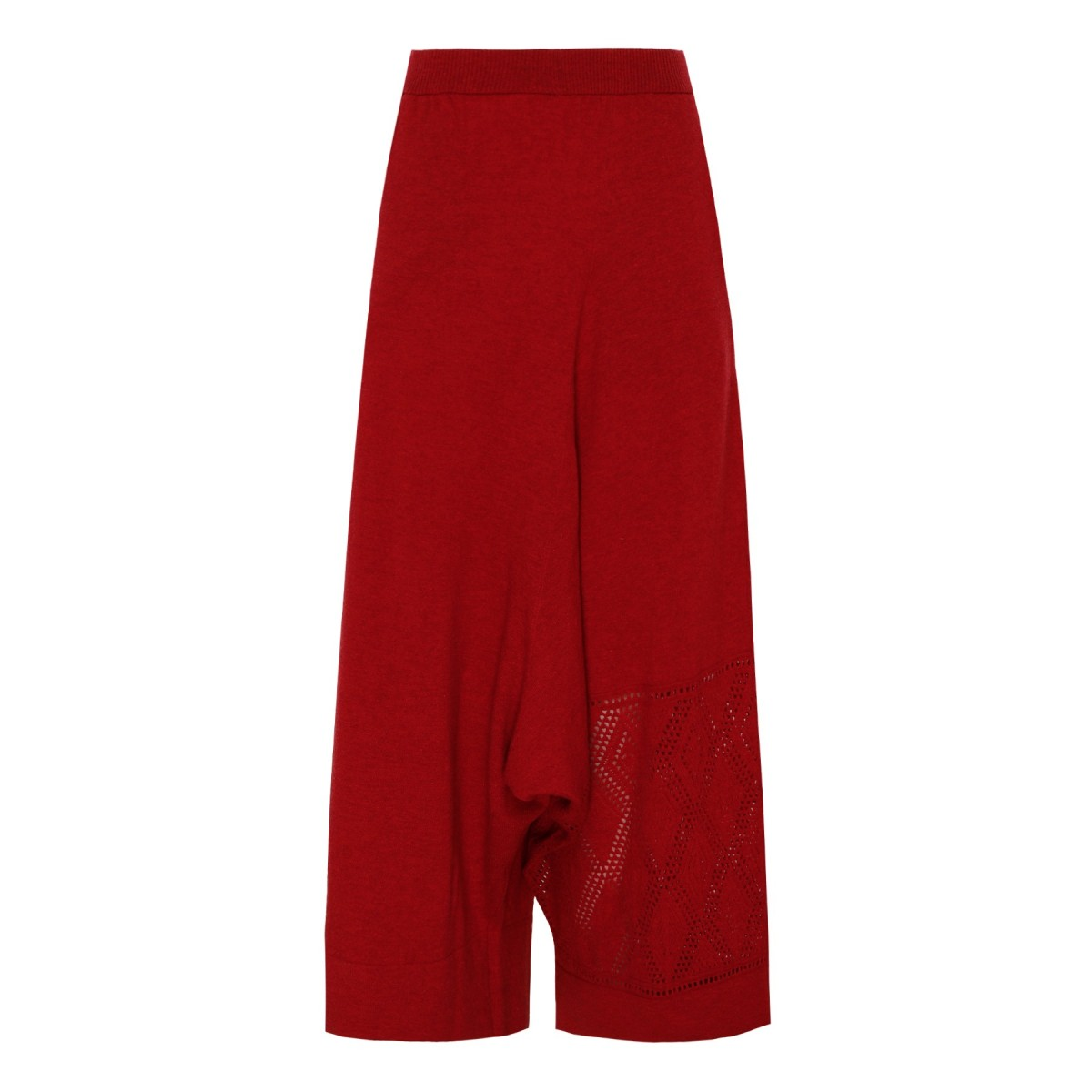 Fire Red Wool Pants
